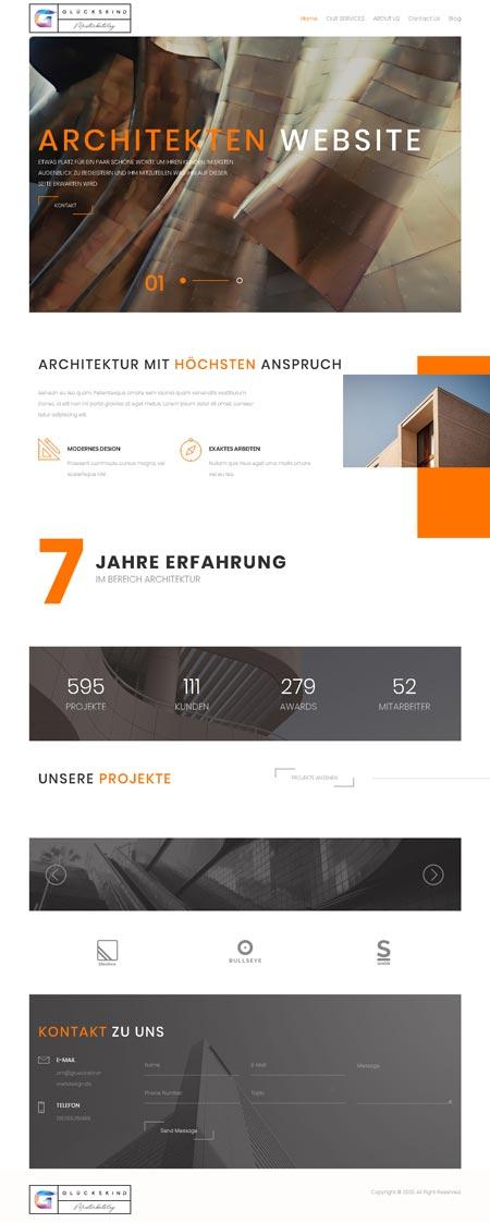 Architekt Corbusier - Glückskind Webdesign Musterkatalog
