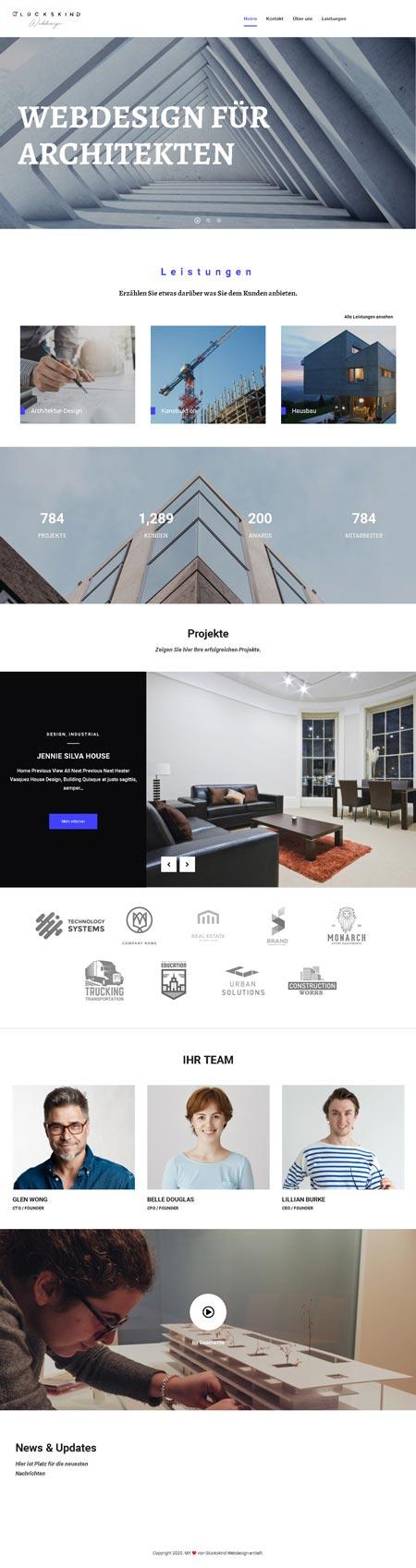 Architekt Foster - Glückskind Webdesign Musterkatalog