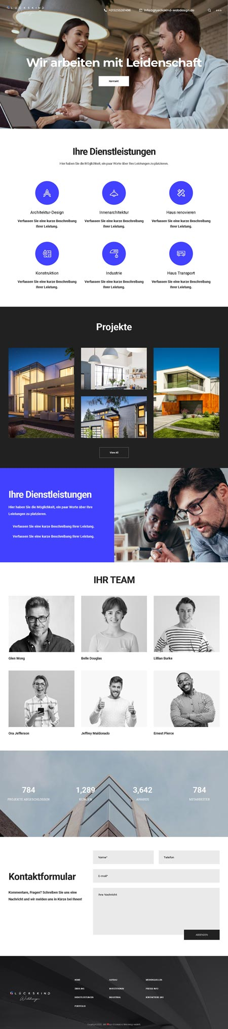 Architekt Libeskind - Glückskind Webdesign Musterkatalog