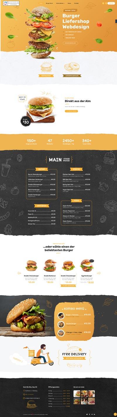 Burger Webshop - Glückskind Webdesign Musterkatalog