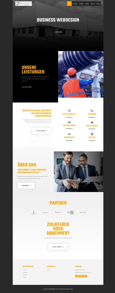 Business industrie - Glückskind Webdesign Musterkatalog