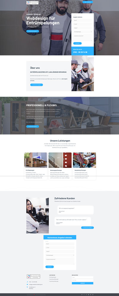 Dienstleistung Entrümpelung - Glückskind Webdesign Musterkatalog