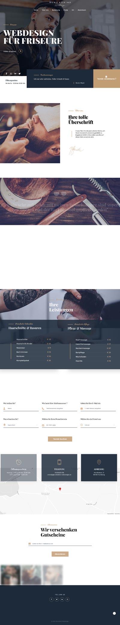 Friseur Fekkaii - Glückskind Webdesign Musterkatalog