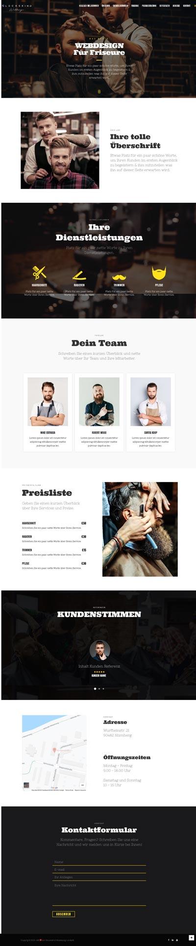 Friseur Mitchelll - Glückskind Webdesign Musterkatalog