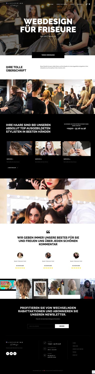 Friseur Murphyy - Glückskind Webdesign Musterkatalog