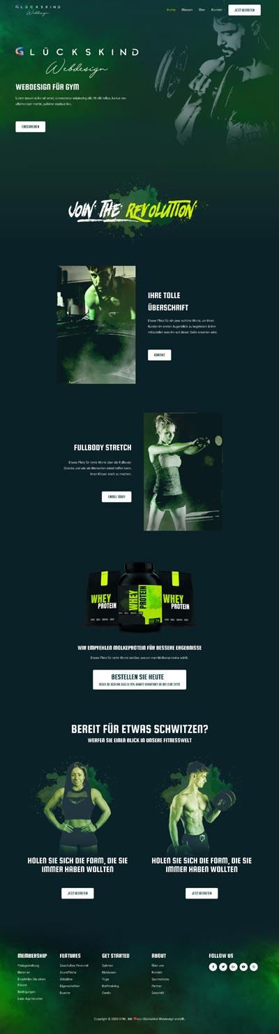 Gym Wolff - Glückskind Webdesign Musterkatalog