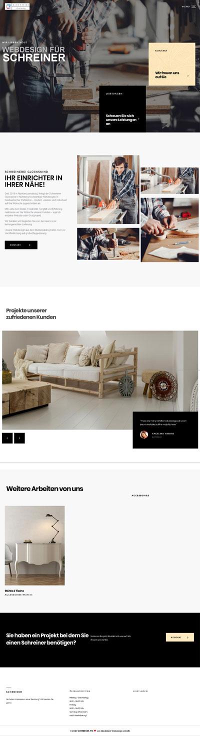 Handwerk Buche 1 - Glückskind Webdesign Musterkatalog