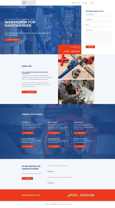 Handwerk Klempner - Glückskind Webdesign Musterkatalog