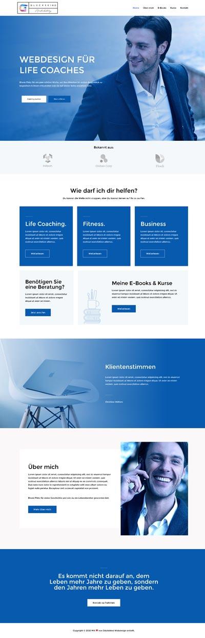 Life Coach Tolle - Glückskind Webdesign Musterkatalog