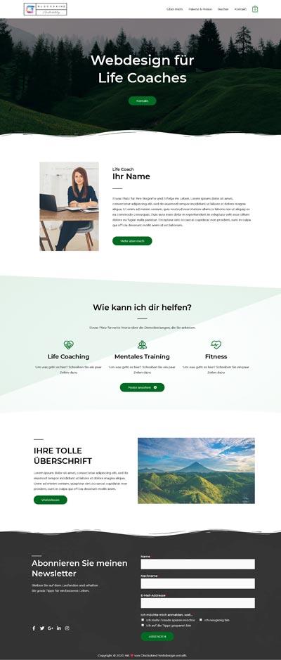 Life Coach Wayne - Glückskind Webdesign Musterkatalog