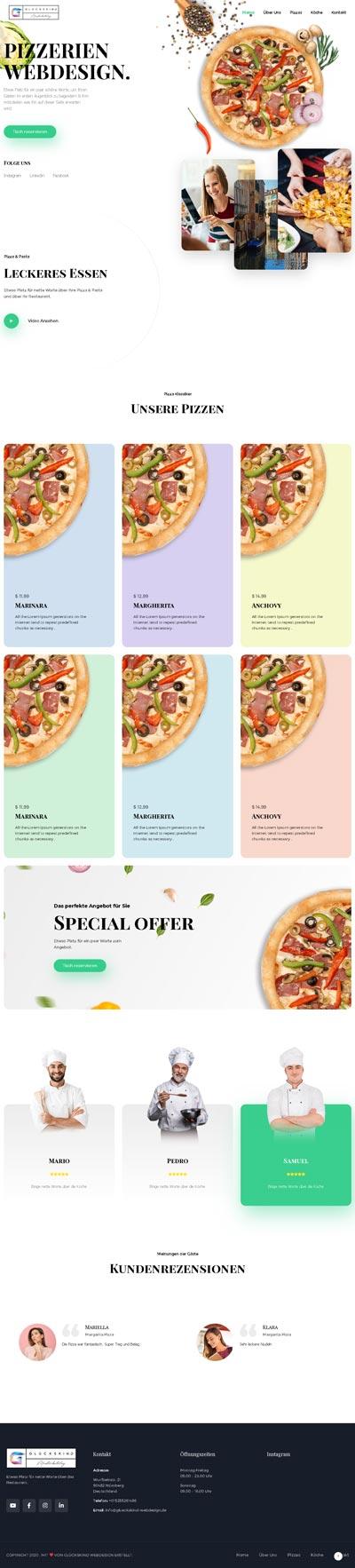Restaurant Oldanii - Glückskind Webdesign Musterkatalog