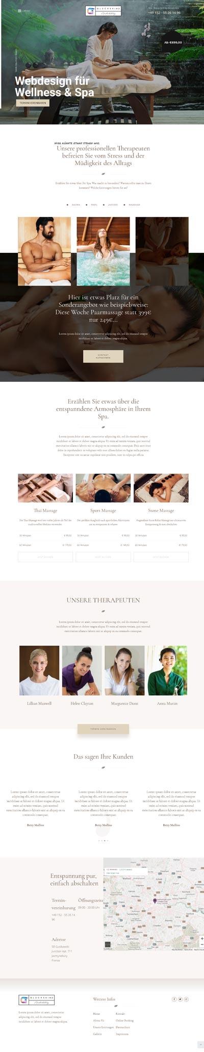 Spa Relax - Glückskind Webdesign Musterkatalog