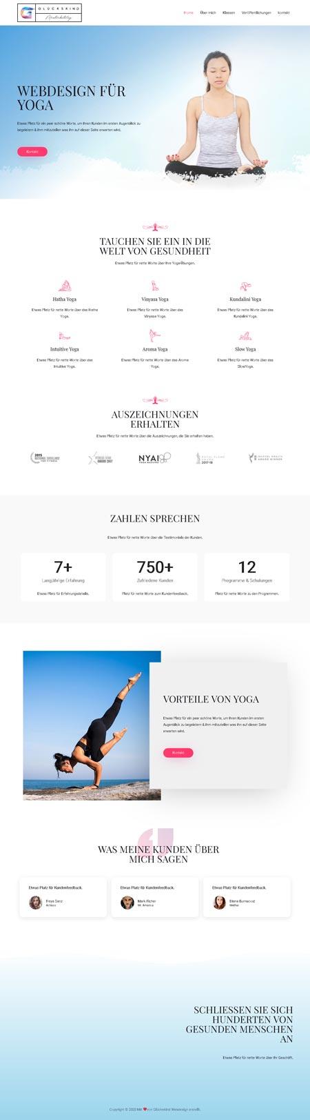 Yoga Devi - Glückskind Webdesign Musterkatalog